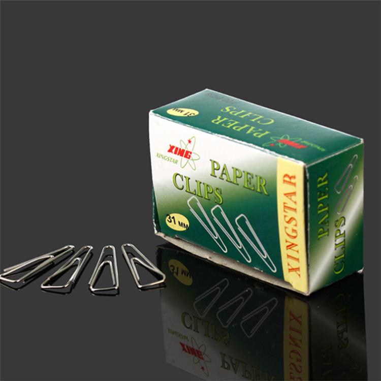 factory wholesale 25mm 31mm triangle paper clip silver golden color