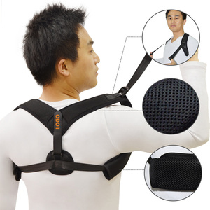 High Quality Adjustable Back Brace Neck Pain Relief Posture Corrector Provides Lumbar Support Lower Upper Clavicle Brace