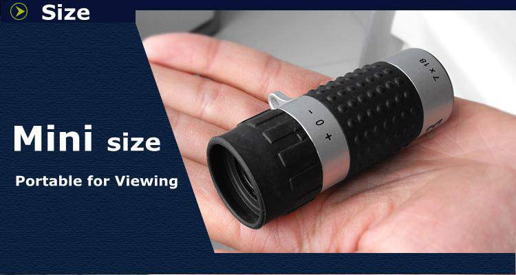 Promotional 7X18 Optic Lens Mini Monocular Telescope for Sporting and Travelling