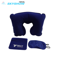 3-In-1 Airline Comfortable Funny Travel Kit With Eye Mask