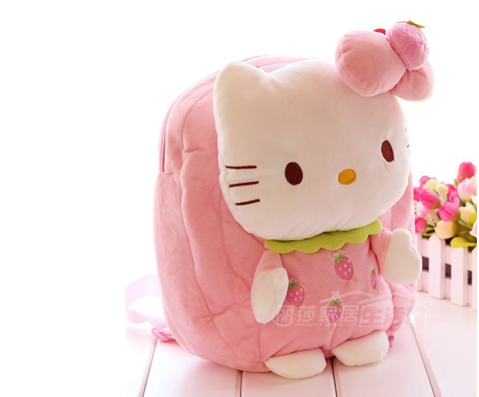 b8df2b0583 Buy Cute Hello kitty plush backpack boys and girls Kindergarten childrens  school bags backpack shoulder bag baby soft plush toy in Cheap Price on  Alibaba. ...