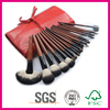 Wood Handle Material and Fan Brush Style Cosmetic Blush Brush with bags