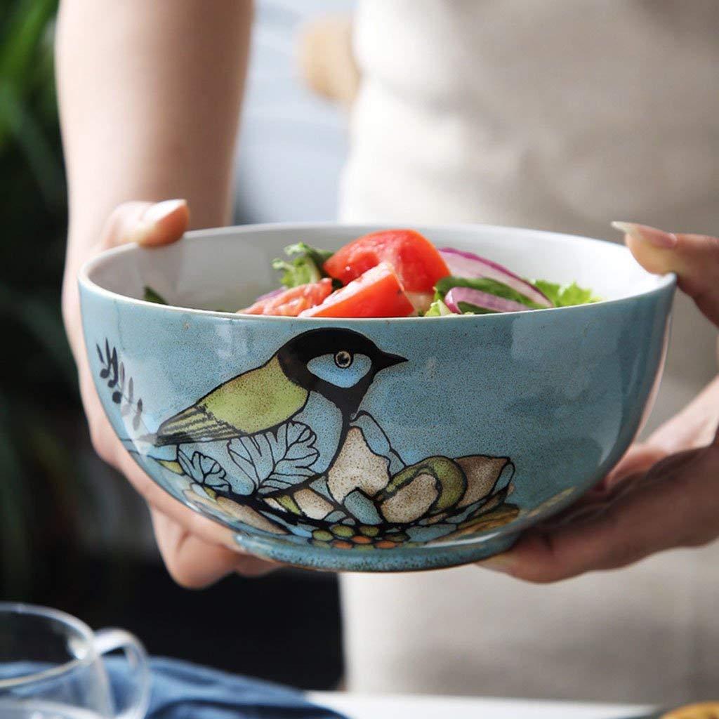 Ceramic Noodle Bowls Rice Bowls Soup Bowls Pasta Bowls Bowls blue glaze Pattern 7in