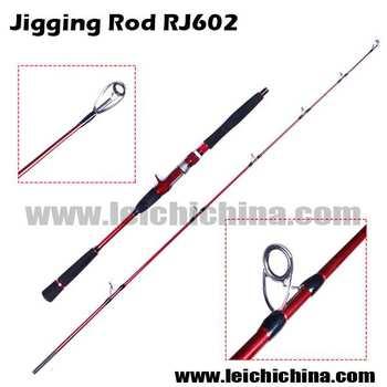 New type rj602 2 6 diameter 39 s tip 2 section carbon jigging for Types of fishing poles