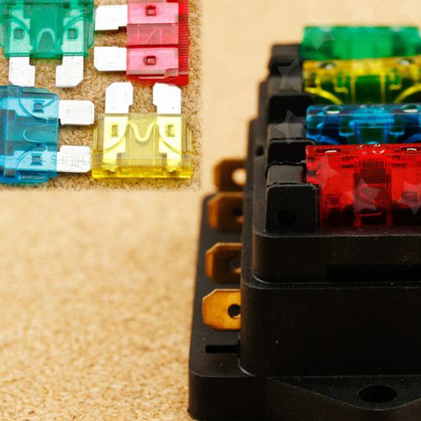 4 шт. крепкий авто до 40A 24 В в-line стеклоочистителя держатель Box Kit предохранители-бесплатная бесплатная доставка