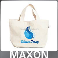 New arrival fashion plain white cotton tote bag ,China manufacturer