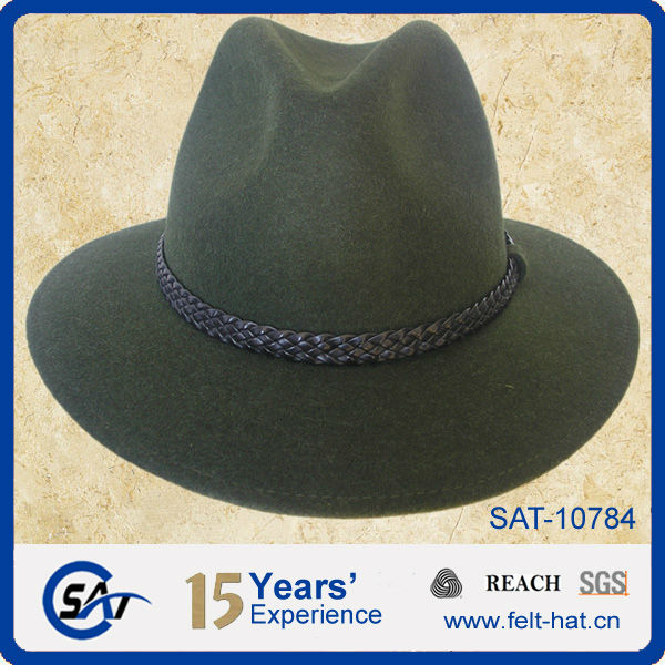 d1b481821b8 Men s Outdoor 100% Australian Wool Felt Hunting Hat - Buy Hunting ...