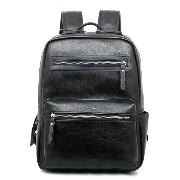 Hotsale stylish Trendy leather laptop rucksack/bagpack, waterproof leather school backpack for teenager students & college