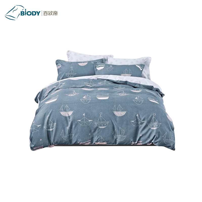 Microfiber reactive printed now design bright color comforter sets for north Amreica