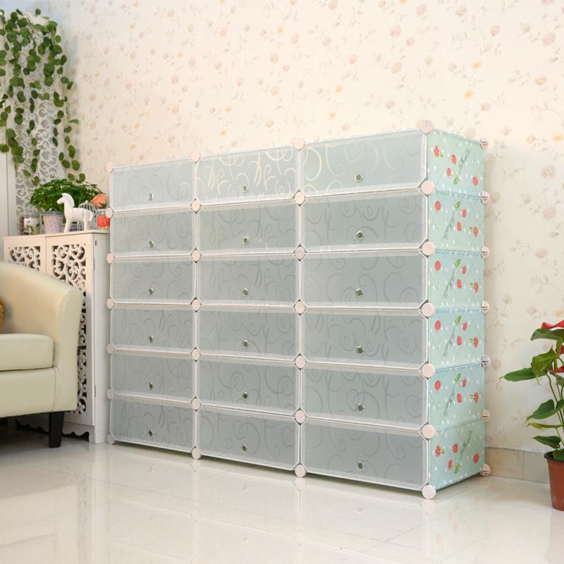 Beautifully Designed Plastic Magic Clear Shoe Interlocking Storage Cubes with Doors & Beautifully Designed Plastic Magic Clear Shoe Interlocking Storage ...