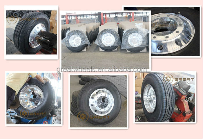 Aluminum Wheel Rims,Alcoa Wheels For Heavy Truck 17.5
