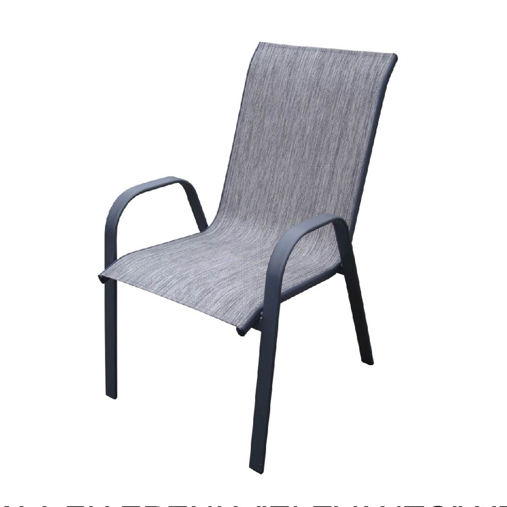 Outdoor Stackable Sling Back Chair Patio Dining Chairs