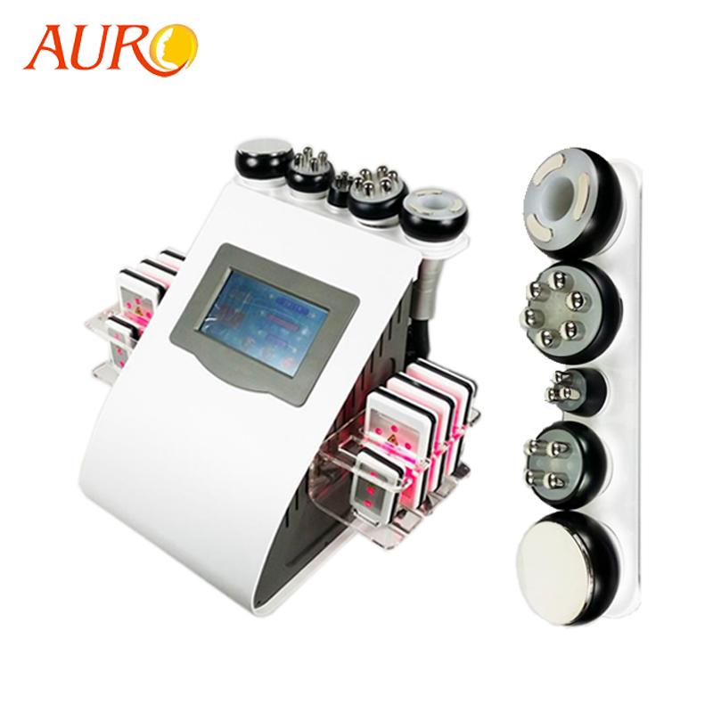 Au-61B Auro 6 in 1 Cavitation 40K Vacuum Weight Loss Radio Frequency Slim Beauty Machine