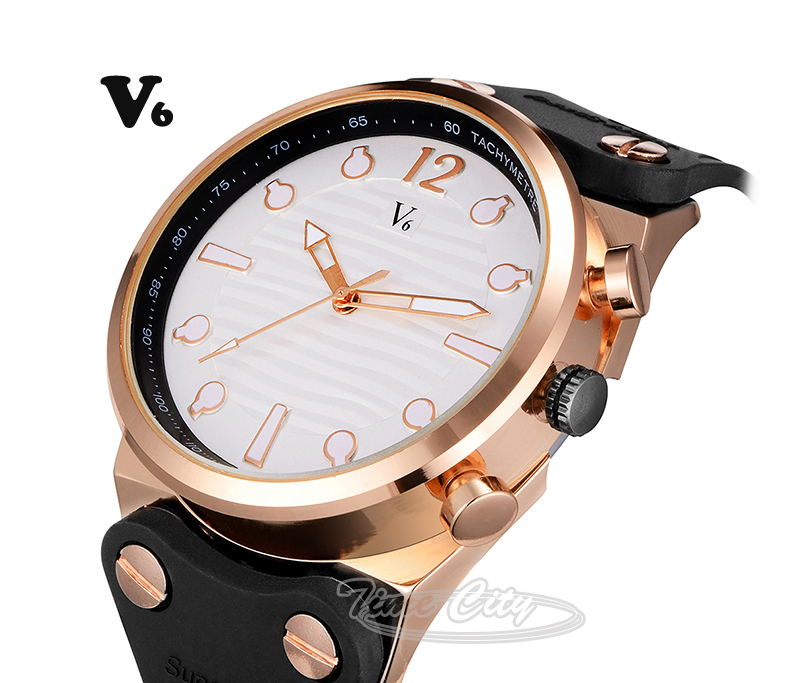 Black Silicone Strap 2015 Sports Men's Quartz Watch Unique Design Famous Brand V6 Hours Casual Fashion Hot Gift Wrist watches