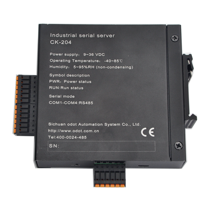 Military Factory Optional Voltage DIN Rail Installation 4 Roads Ethernet to Serial Converter with RS232/422/485 Ports