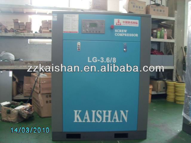 Well-known brand LG 3.6/8 AC Motor Screw Air Compressor