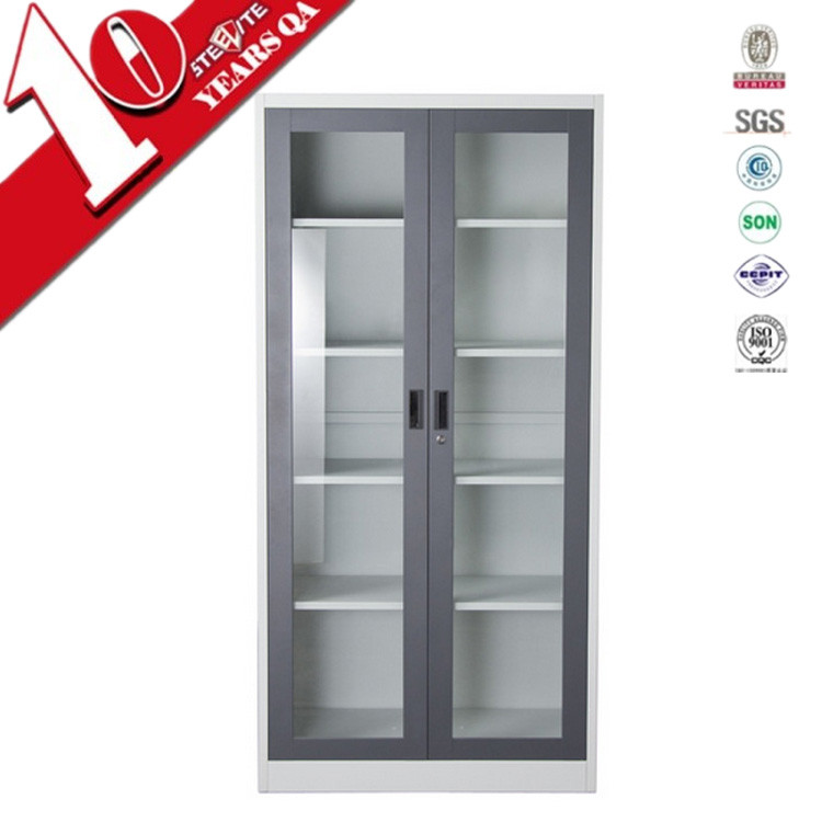 Furniture Europe Stylesmall White Storage Cabinet With Glass Doors