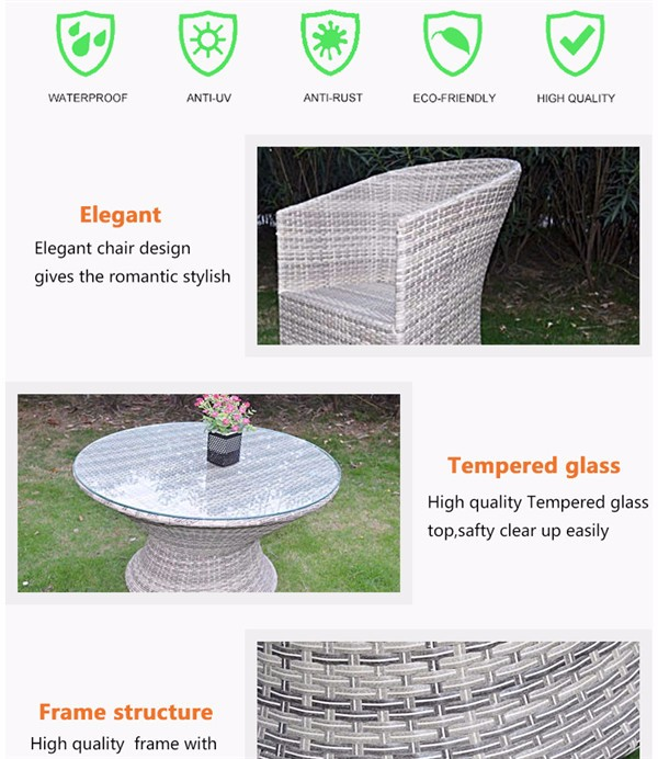 New Lowest Price Wicker Rattan Table Chair For Beach Outdoor Antique Dining Room Furniture
