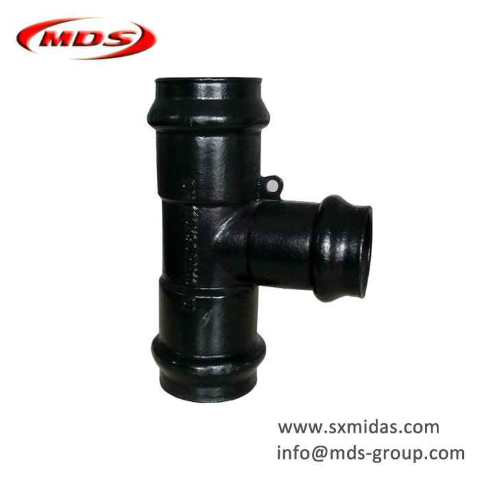 awwa c110 ductile iron pipe fitting pn16 for pvc pipe