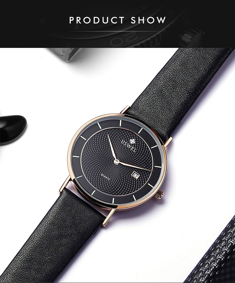 2019 Factory Professional Manufacturing Waterproof Leather Quartz Movement Watch