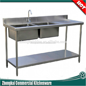 italian kitchen sink inox double bowl sink S031