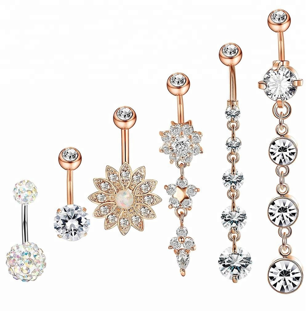 316L Surgical Steel Rose Gold Belly Piercing Sexy Body Jewelry Manufacturers