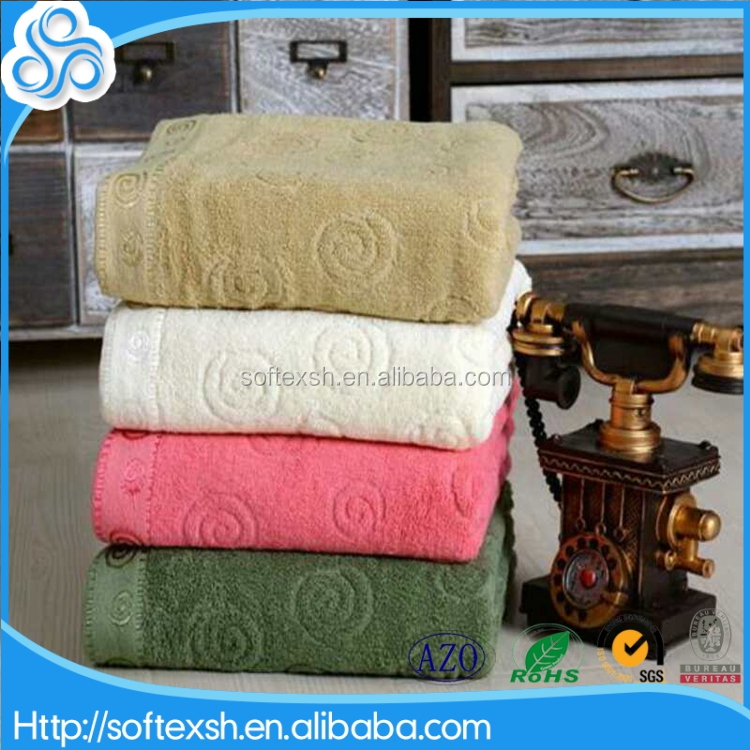 customized 32s2 cotton yarn dyed promotion jacquard stock towel cotton 70x140