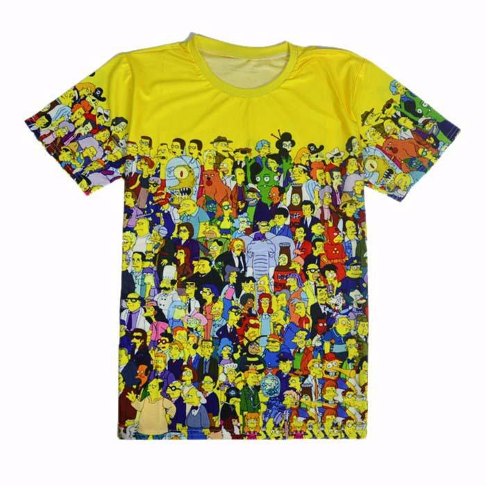 ec70fe4024 Get Quotations · Cute cartoon the bart simpson home 3D t shirt new 2015 summer  men women's t-