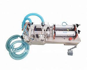 Good quality piston double heads mineral water liquid filling machine