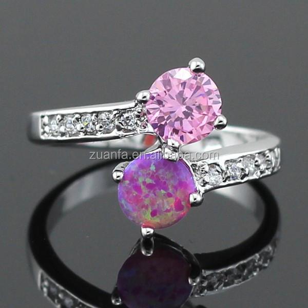 Lots Sterling Silver Micro Pave Diamond Australian Pink Fire Opal ...