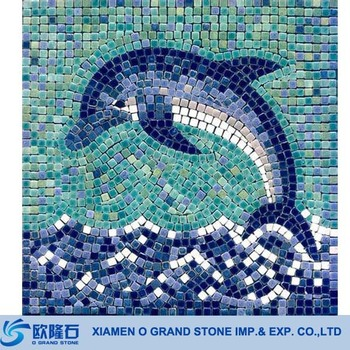 Marble Mosaic Tile 30x30 Dolphin For Swimming Pool