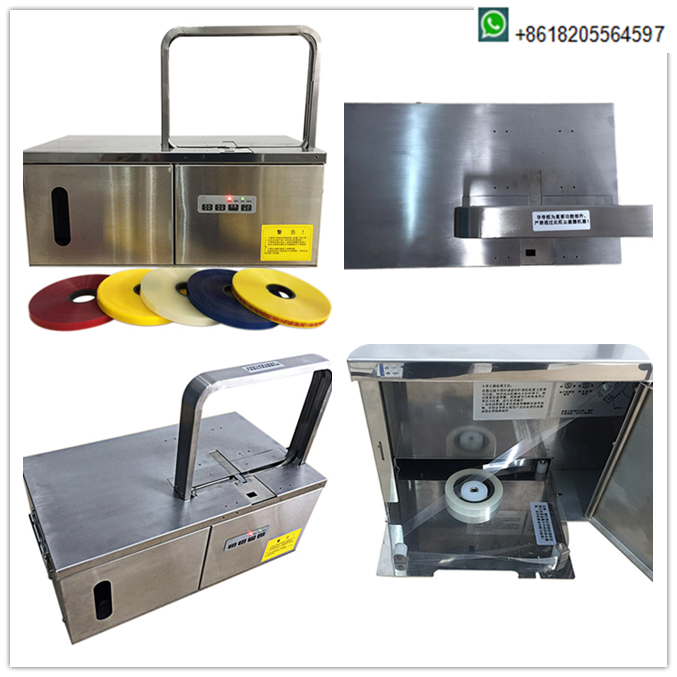 12mm width automatic strapping vegetable desktop machine