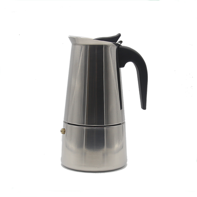 Hot selling professional manual stainless steel stove top moka coffee maker with 2/4/6/9 Cups