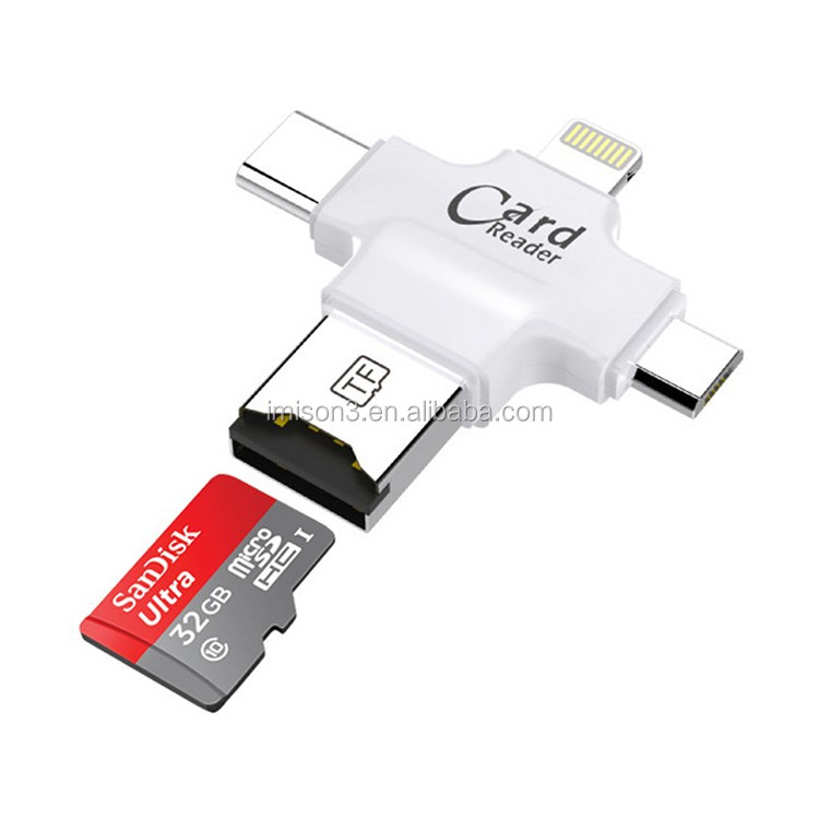 2 in1 Android Micro USB Phone Connector SD Card Camera Reader for iPhone & Android type-C