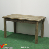 Handcrafted Rectangle Small Dining Table Reclaimed Wood