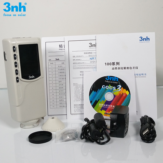 Portable cheap paper colorimeter nr110 color difference meter with 4mm aperture for 8/d