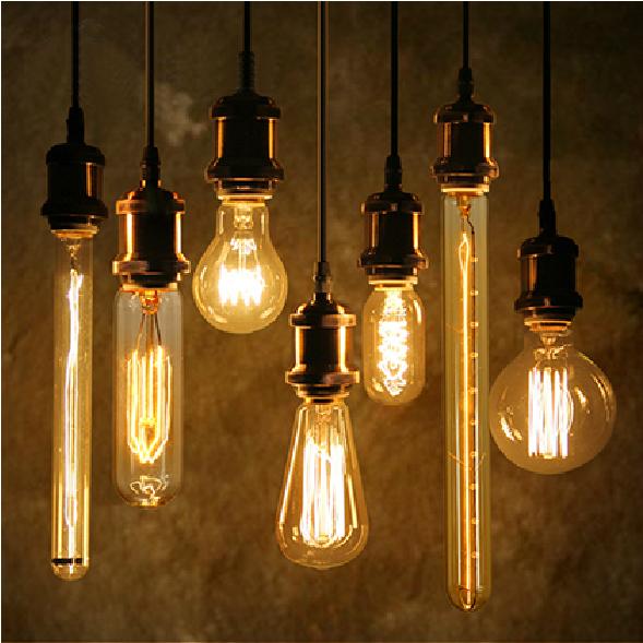 Antique Retro Vintage Edison Bulb Light E27 Incandescent