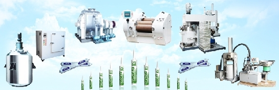 machine for double component polysulphide sealant