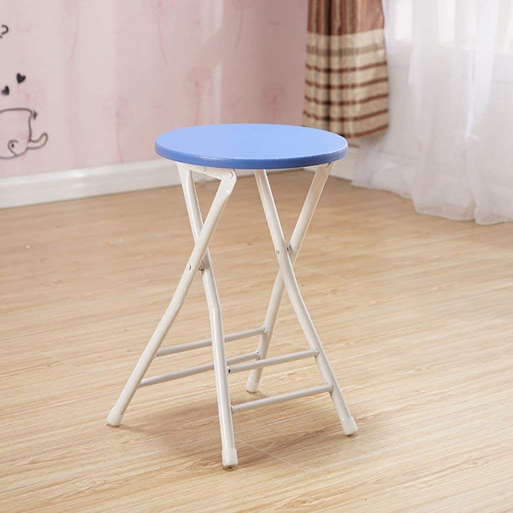 GAOXINGSHOP Stool Chair Fashion Simple Folding Chair Home Adult Dining Chair Backrest Training Chair Folding Stool Stool Outdoor Chair (Color : Blue, Size : 303045cm)