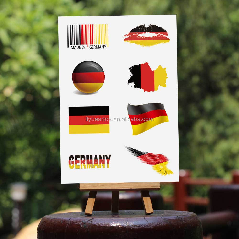 Germany nation flag tattoo country flag 2017 game fans cheering