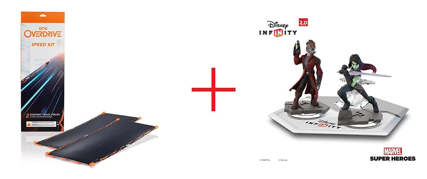 Anki OVERDRIVE Expansion Track Speed Kit and Disney Infinity: Marvel Super Heroes (2.0 Edition) - Marvel's Guardians of the Galaxy Play Set - Bundle