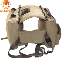 Wholesale dog travel cotton canvas saddle bag pet carriers