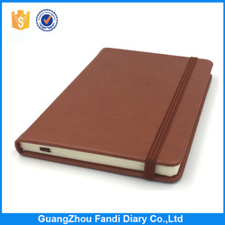 2017 promotional agenda OEM leather notebook covers design with paper for wholesale