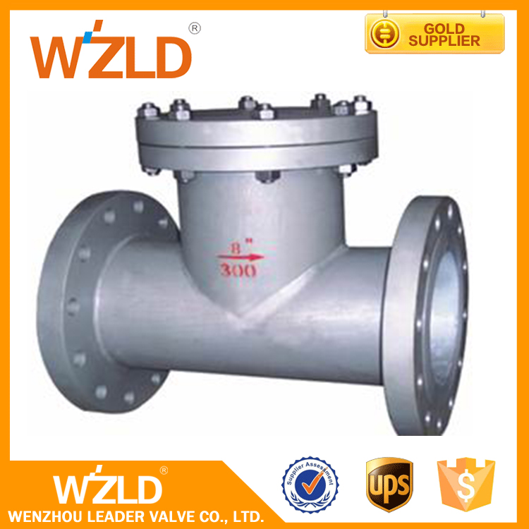 WZLD Vertical Basket Strainer ASME B16.34 Stainless Steel Deep Carbon Steel T Strainer Valve
