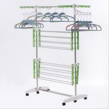 Indoor 3 Tier Layer Folding Laundry Hanger Clothes Drying Rack