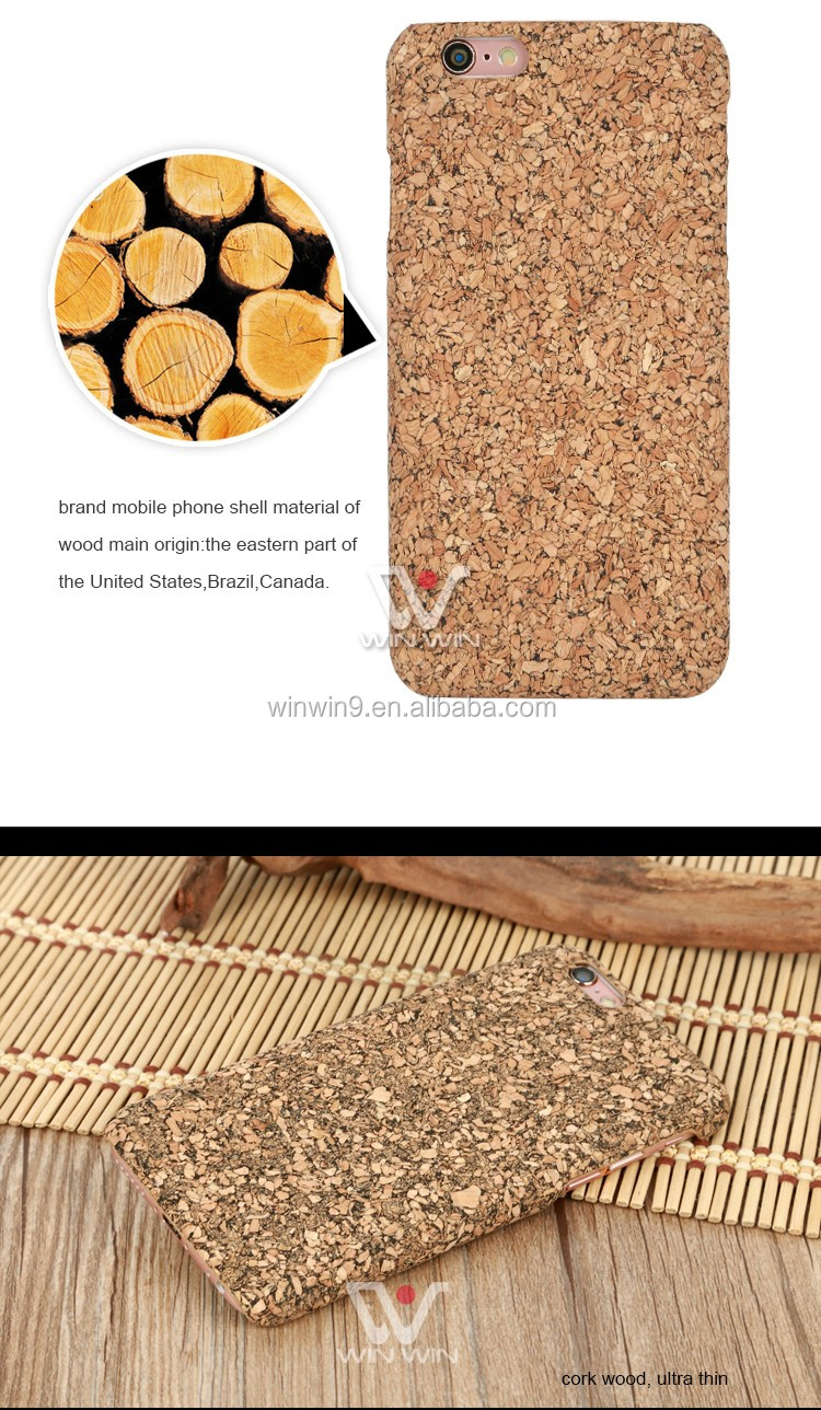 Custom cork wood cell phone case for iphone6