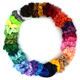 Custom Fashion Wholesale Elastic 39-color satin cloth Hair Scrunchies for women girls