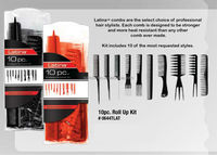 10 pc. Bone Comb Rollup Set BONE-10 Student Kit Comb's Set
