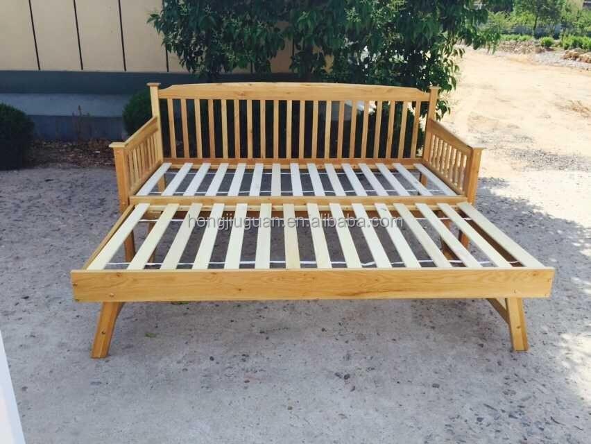 eiche holz tagesbett mit ausziehbett bett produkt id 60257412584. Black Bedroom Furniture Sets. Home Design Ideas