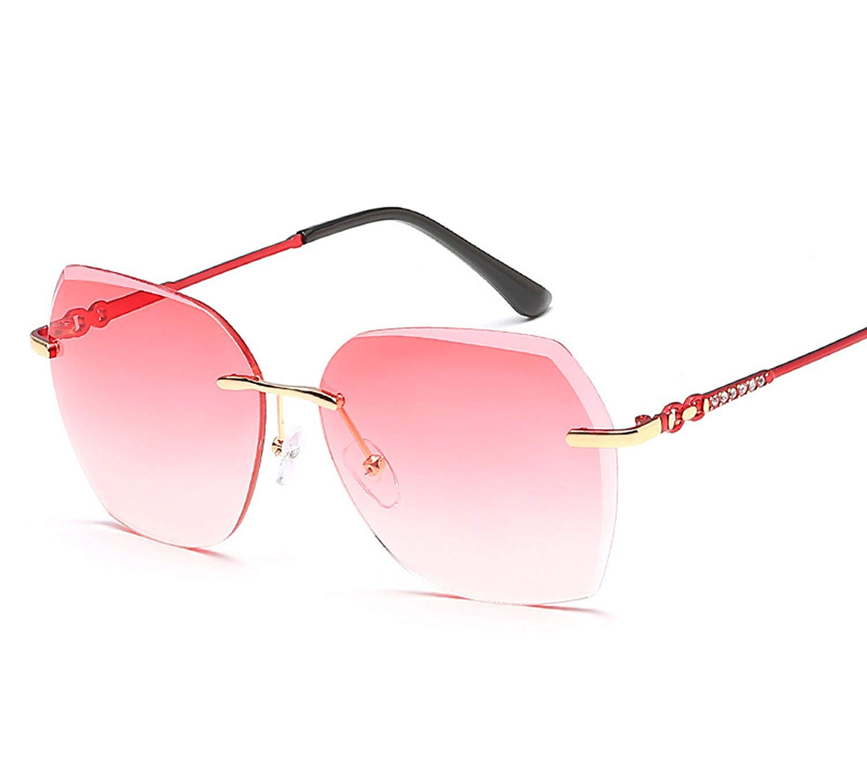 8f5482b694 Get Quotations · ladies trend sunglasses color marine film frameless  sunglasses metal sunglasses